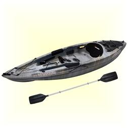 Lake Kayak Sit On Top Flat Water 10 ft Fishing Boat Canoe w/