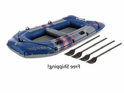 Inflatable Boat Dinghy Kayak River Raft Lake Beach Pool Row