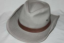 Dorfman Pacific Unisex Leather Band Shapeable Outback Hat