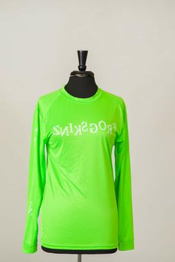 FROGSKINZ APPAREL LONG SLEEVE NEON GREEN UPF 30 BOAT,BEACH,F