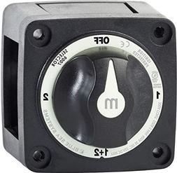 Blue Sea Systems m-Series Mini Selector Battery Switch, Blac