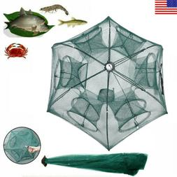 Magic Fishing Trap 12 Holes Full Automatic Folding Shrimp Ca