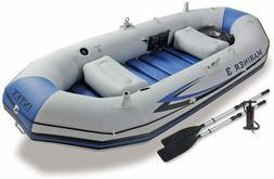 Intex Mariner 3, 3-Person Inflatable Boat Set with Aluminum