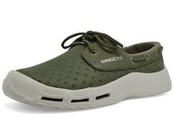 Men's SoftScience Mb0005dkb The Fin Boat Shoes- Size 8 M US