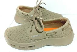 Mens Size 7 Loafers KHAKI Boat Deck Shoes Soft Science The F