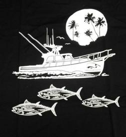 Mens XL Graphic t-shirt Fishing Apparel Blue fin tuna yellow