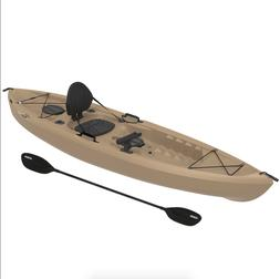 Lifetime Muskie Angler Sit-On-Top Kayak with Paddle, Tan, 12