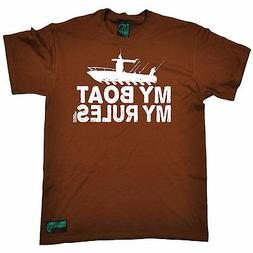 My Boat My Rules MENS Drowning Worms T-SHIRT tee birthday gi