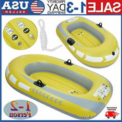 NEW 1-2 Persons PVC Inflatable Kayak Rowing Fishing Boat Raf