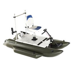 AQUOS 0.9mm PVC 7.5ft FishMe Pontoon Boat for One Person Lur