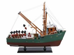 NEW Wooden Model Ship A Perfect Storm Andrea Gail Movie Repl