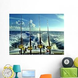 Wallmonkeys Offshore Fishing Wall Mural Peel and Stick Graph