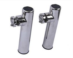 Pair! 316 Stainless Steel Boat Fishing Rod Holder Clamp-on f