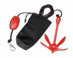 Portable Folding Anchor Buoy Kit Canoe Kayak Raft Boat Sailb