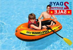 PREMIUM Explorer 1 Person Youth Inflatable PVC Boat Raft for