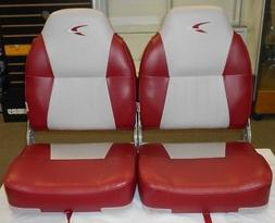WISE PREMIUM HIGH BACK BOAT SEAT, GREY/RED, WD640-661, SET O