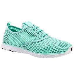 ALEADER Women's Quick Drying Aqua Water Shoes New Mint 7.5 D