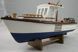 UD Replica New England Lobster Boat Model ~ Nautical Decor