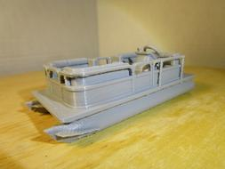 """ S "" SCALE    PONTOON BOAT, FISHING BOAT    L@@K    3D PRIN"