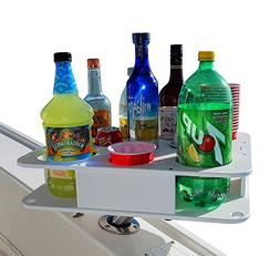 Semi Custom Docktail Boat Cup and Bottle Holder Bar w Magma