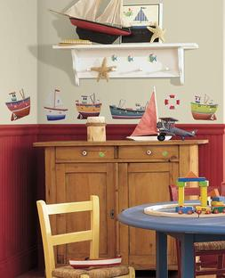 Ship Shape Peel and Stick Wall Sticker