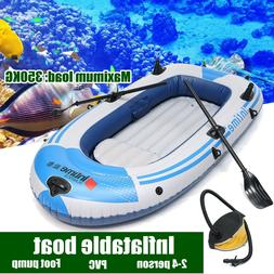 Sports Inflatable Fishing Boat Raft PVC Canoe Dinghy Tender