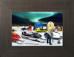 Hot Spot By Todd Thunstedt 20x26 Aurora Borealis Lake Walley