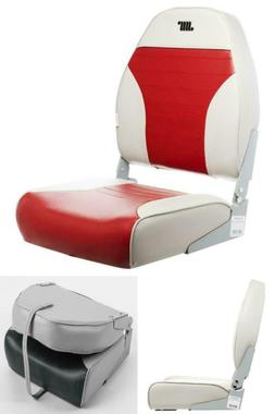 Wise Standard High Back Fishing Boat Seat Chair Fording Grey