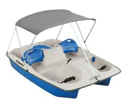 Sun Dolphin 5-Person Sun Slider Pedal Boat with Canopy Blue