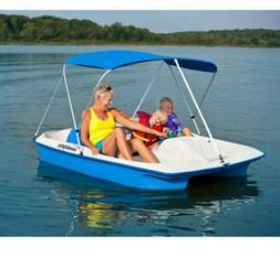 sun slider pedal boat with canopy blue