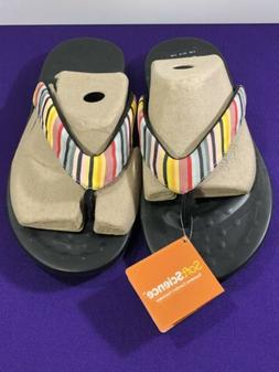 SoftScience The Waterfall Stripe Womens Flip Flop Size 11 US