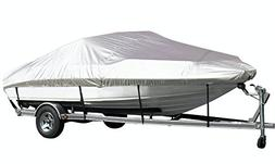 iCOVER Trailerable Boat Cover,Water Proof Heavy Duty, Fits V