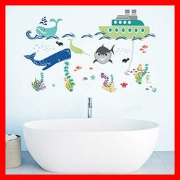 Under The Sea Wall Stickers Shark Boat Adventures Kids Room