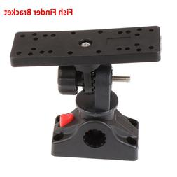 universal rotatable electronic fish finder mount plate