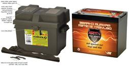 VMAX MR107 85Ah MARINE 12V BATTERY + BATTERY BOX: 12 VOLT MR