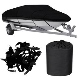 Waterproof Trailerable Boat Cover Fishing Ski Bass 11-13/14-