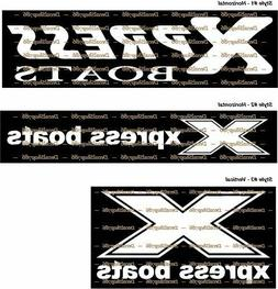 XPRESS Boats - Fishing/Outdoor Sports - Vinyl Die-Cut Peel N
