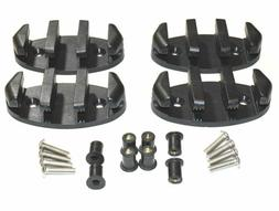 Zig Zag Anchor Cleat w/ Well Nuts for Kayaks, Canoes, Boats,